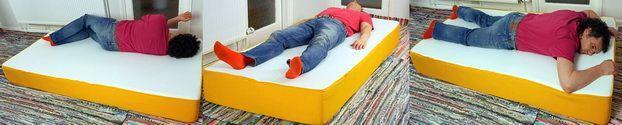 Eve mattress sleeping positions
